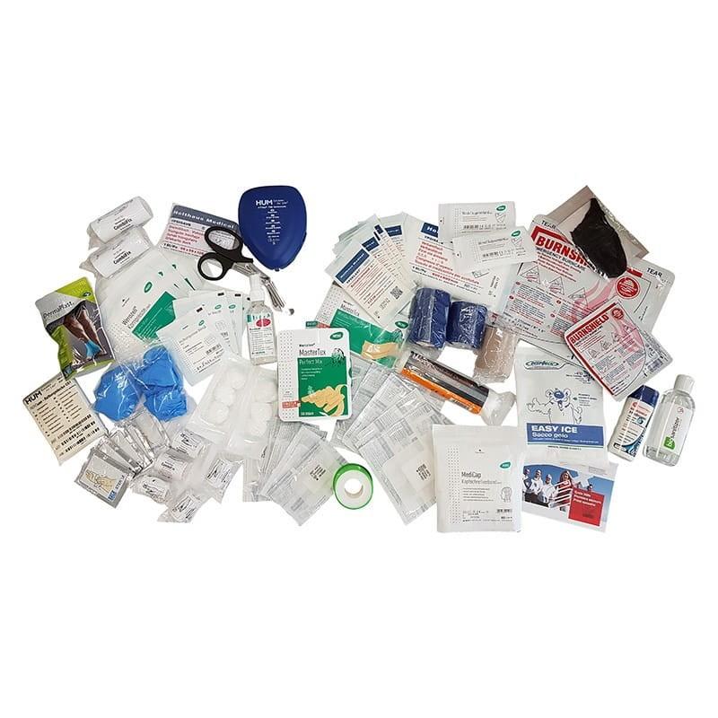Inhalt des Erste-Hilfe-Koffers