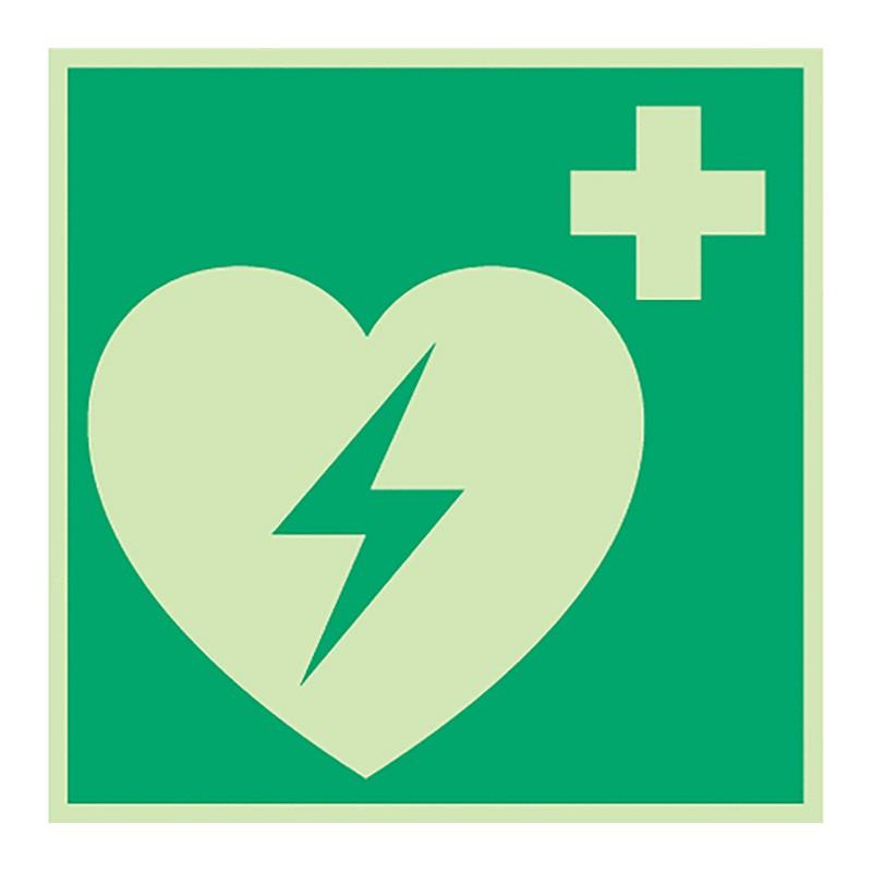 """Rettungszeichen """"Defibrillator"""""""